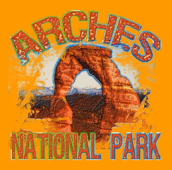 Wall Art - Digital Art - Arches National Park by David G Paul