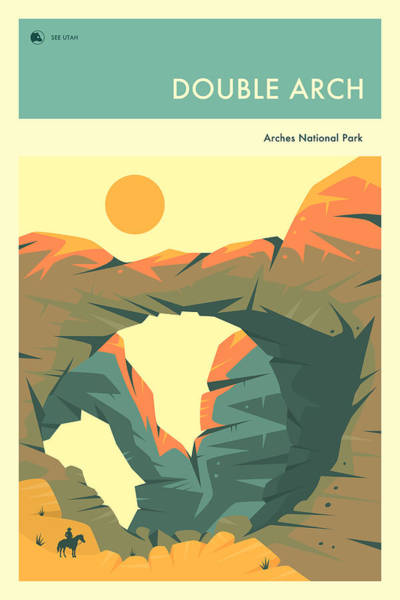 National Park Digital Art - Arches National Park Poster by Jazzberry Blue