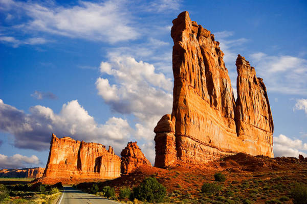 Courthouse Towers Wall Art - Photograph - Arches National Park Utah by Douglas Pulsipher