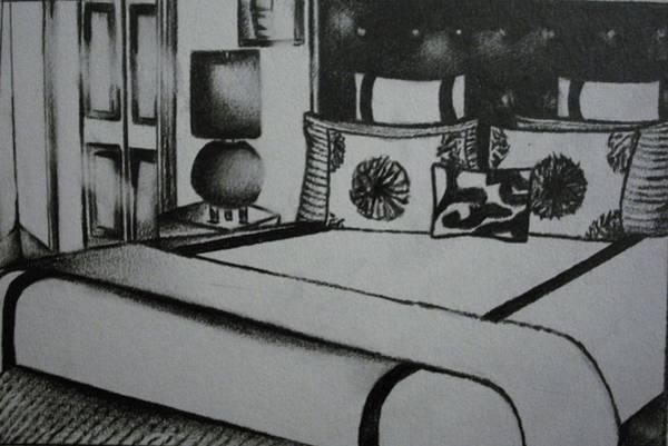 Architectural Bedroom Rendering  Art Print