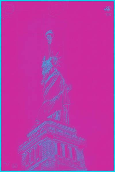 Archtecture Blueprint - Statue Of Liberty 2 Art Print