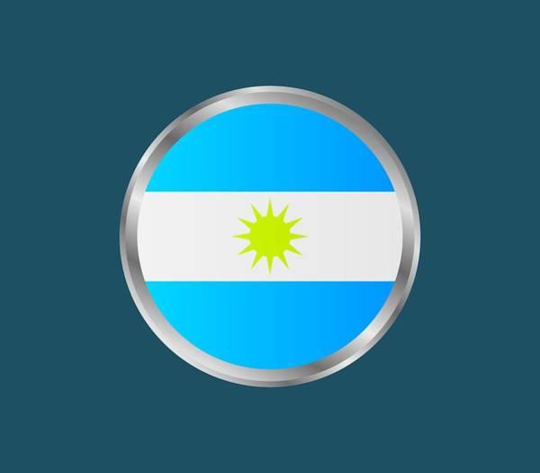 Illustration Digital Art - Argentine Flag by Marco Livolsi