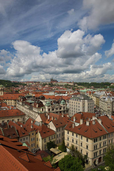 Wall Art - Photograph - Ariel View Of Prague From Old City Hall by Bridget Calip
