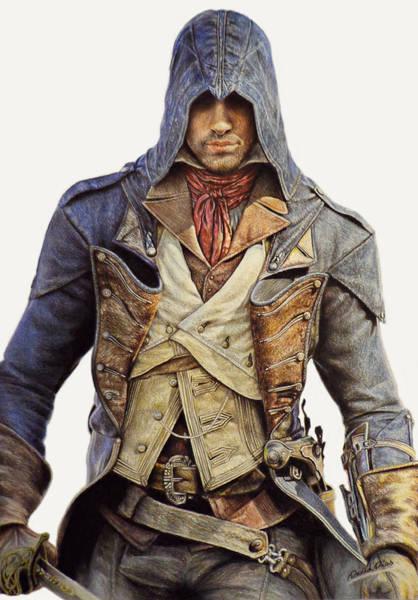 Unity Drawing - Arno Dorian - Assassin's Creed Unity by David Dias