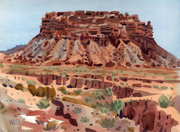 Butte Painting - Arroyo And Butte by Donald Maier