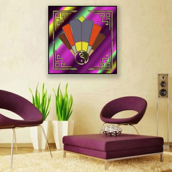 Digital Art - Art Deco Fan 12 Canvas by Chuck Staley