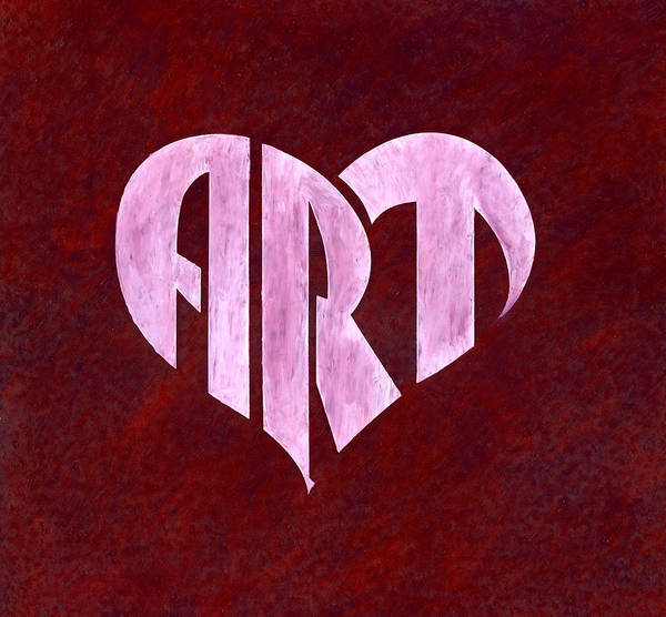 Drawing - Art Heart by Dominic White