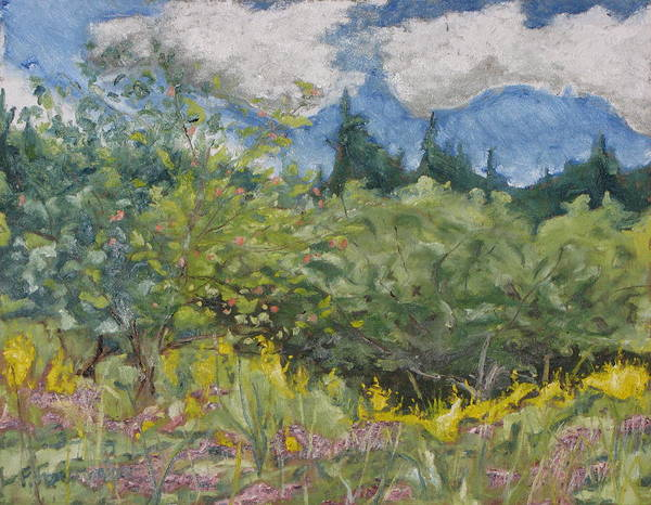 Wall Art - Painting - Art Oil Painting Plein Air Landscape August On The Field by Francois Fournier