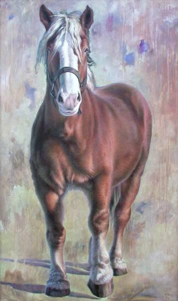 Hans Droog Wall Art - Painting - Arthur The Belgian Horse by Hans Droog