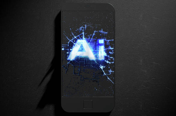 Intelligence Digital Art - Artificial Intelligence Cloner Smartphone by Allan Swart