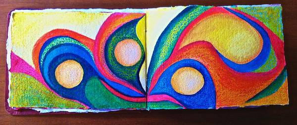 Mixed Media - Artist Journal Page by Polly Castor