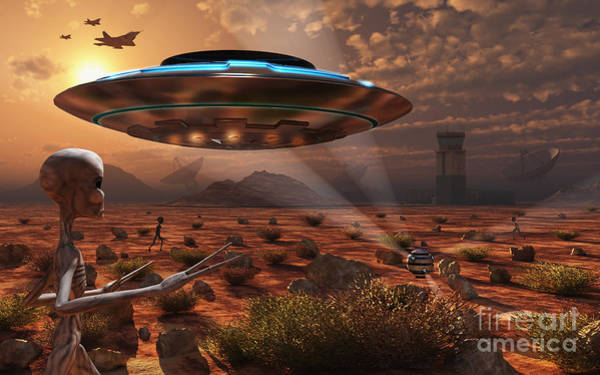 Extraterrestrial Digital Art - Artists Concept Of Stealth Technology by Mark Stevenson
