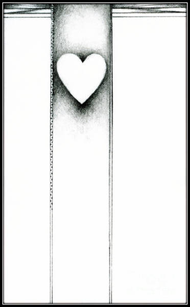 Drawing - Ascending Heart by James Lanigan Thompson MFA