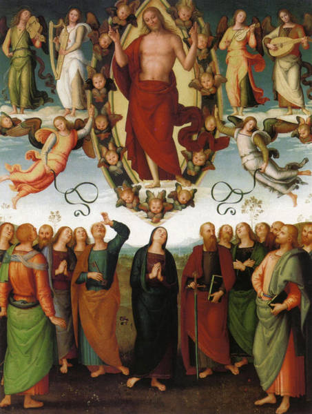 Redeemer Wall Art - Painting - Ascension Of Christ by Pietro Perugino