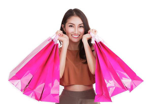 Hongkong Photograph - Asian Lady Carry A Shopping Bag by Anek Suwannaphoom