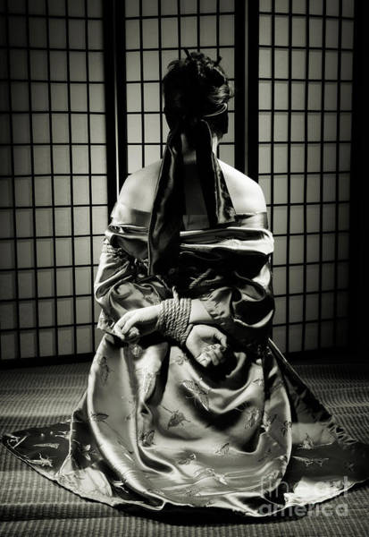 Restrain Photograph - Asian Woman With Her Hands Tied Behind Her Back by Oleksiy Maksymenko