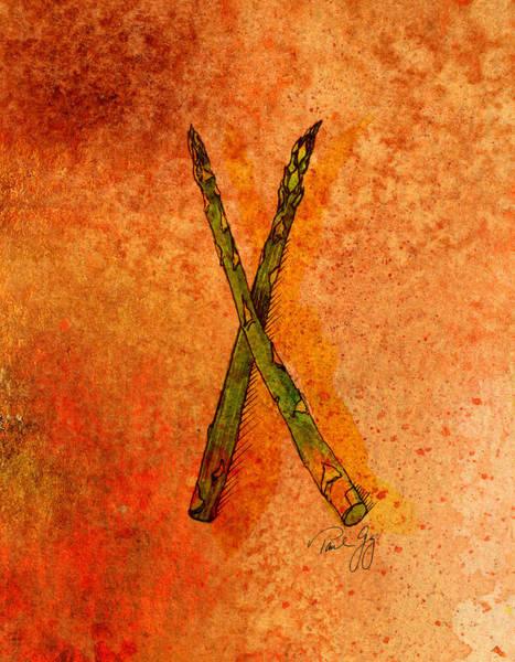 Mixed Media - Asparagus by Paul Gaj