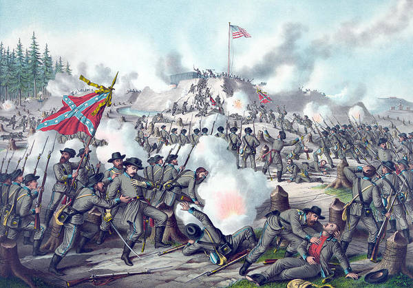 Assault Rifle Wall Art - Painting - Assault On Fort Sanders by American School
