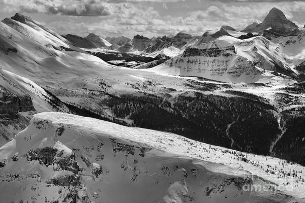Photograph - Assiniboine In The Rockies Black And White by Adam Jewell