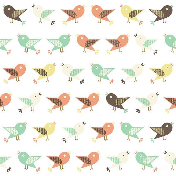 Wall Art - Digital Art - Assorted Birds Pattern by Gaspar Avila