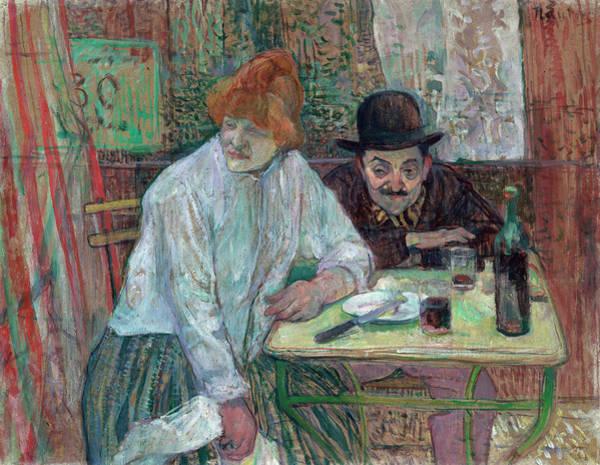 Painting - At The Cafe La Mie by Henri de Toulouse-Lautrec