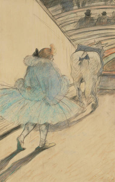 French Artist Drawing - At The Circus Entering The Ring by Henri de Toulouse-Lautrec