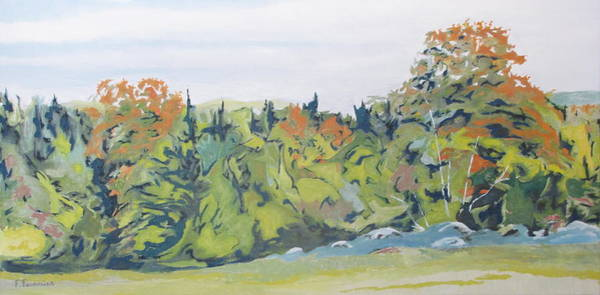 Wall Art - Painting - At The Edge Of Fall by Francois Fournier