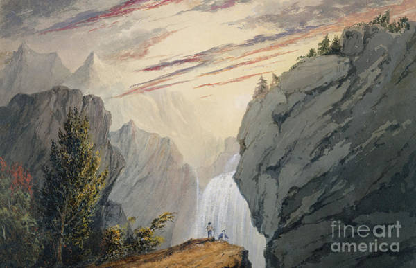 Wall Art - Painting - At The Waterfall by David Claypoole Johnston