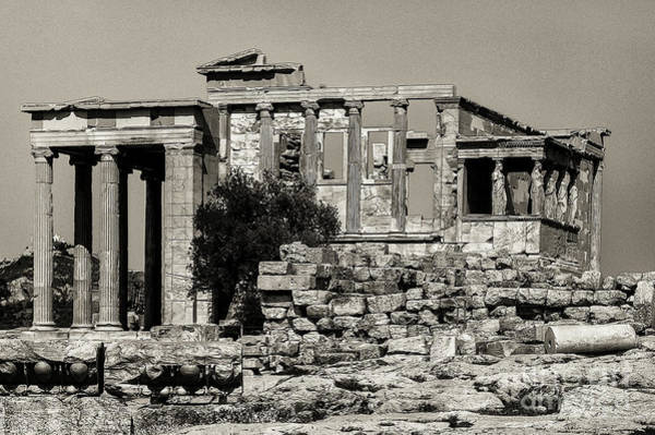 Photograph - Athens Erechtheion Two 3 by Bob Phillips