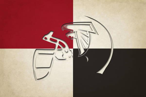 Falcon Photograph - Atlanta Falcons Helmet by Joe Hamilton