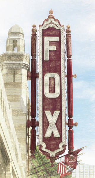 Wall Art - Photograph - Atlanta - Fox Theatre Sign #5 by Stephen Stookey