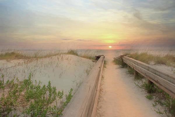 Fence Mixed Media - Atlantic Sunrise by Lori Deiter
