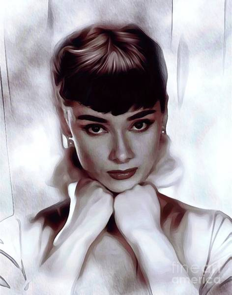Undead Wall Art - Painting - Audrey Hepburn, Actress by John Springfield