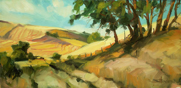 Outdoor Wall Art - Painting - August by Steve Henderson