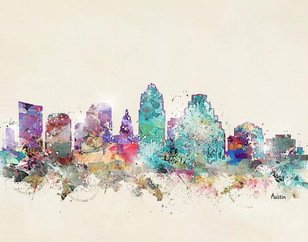 Wall Art - Painting - Austin City Texas by Bri Buckley