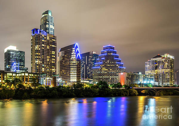 Wall Art - Photograph - Austin Skyine At Night by Paul Velgos