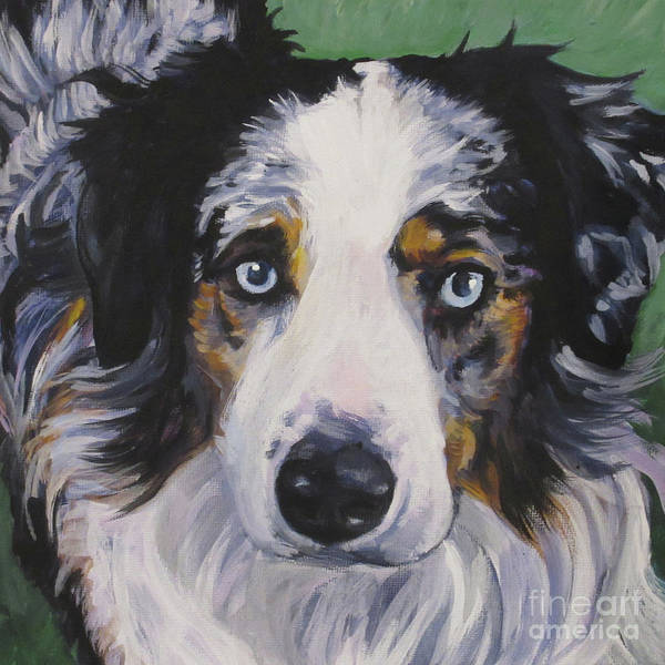Wall Art - Painting - Australian Shepherd by Lee Ann Shepard
