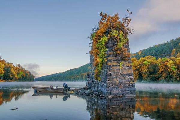 Digital Art - Autumn Along The Delaware River by Bill Cannon