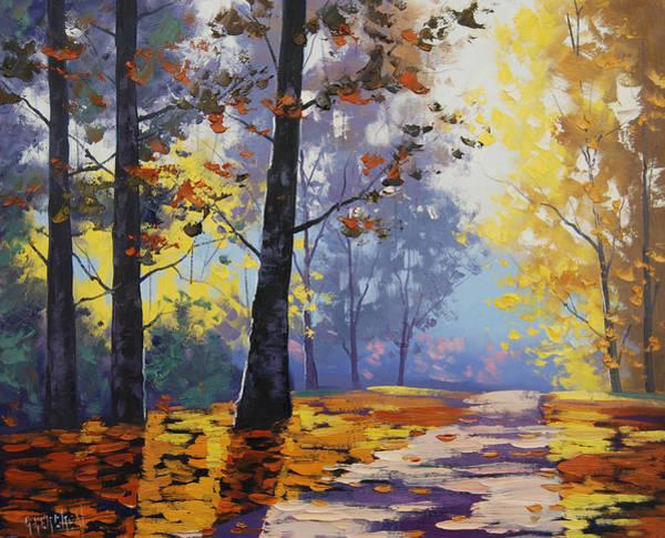 Amber Wall Art - Painting - Autumn Backlight by Graham Gercken