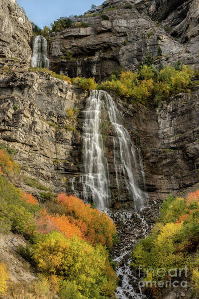 Photograph - Autumn - Bridal Veil Falls - Provo Canyon - Utah by Gary Whitton