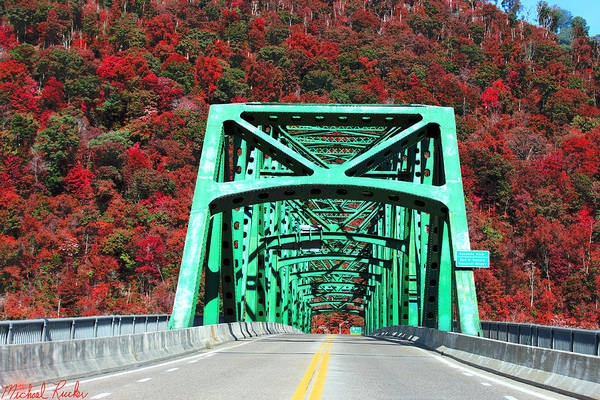 Ocean Wall Art - Photograph - Autumn Bridge by Michael Rucker
