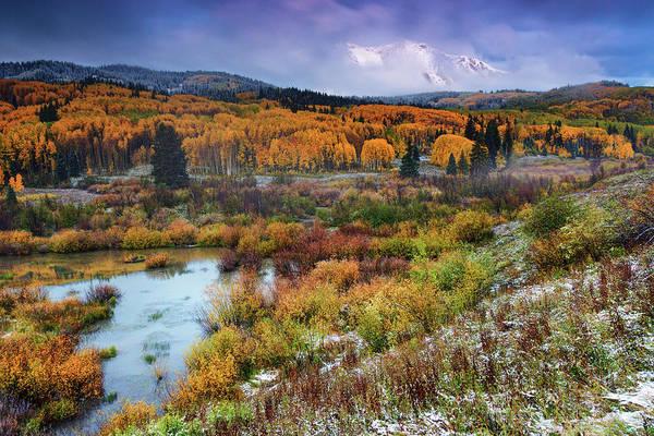 Photograph - Autumn Dusting by John De Bord