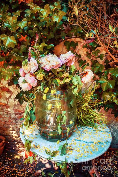 Photograph - Autumn Flowers Arrangement by Ariadna De Raadt