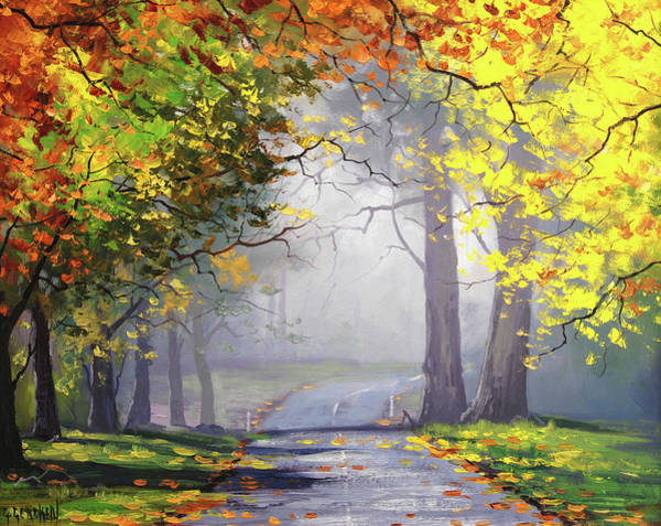 Landscape Scene Painting - Autumn Mt Wilson by Graham Gercken