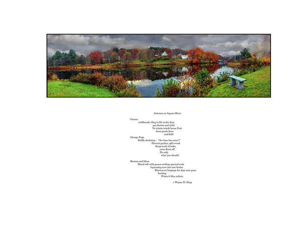 Photograph - Autumn On Squam River Poem by Wayne King