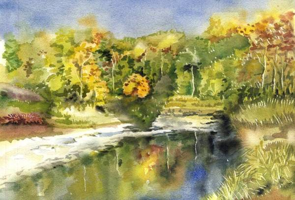 Painting - Autumn Reflection by Alfred Ng
