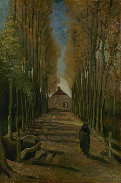 Painting - Avenue Of Poplars In Autumn Nuenen, October 1884 Vincent Van Gogh 1853 - 1890 by Artistic Panda