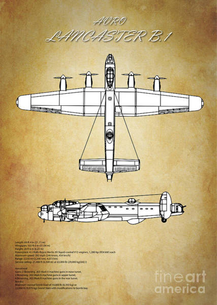 Wall Art - Digital Art - Avro Lancaster Bomber by J Biggadike