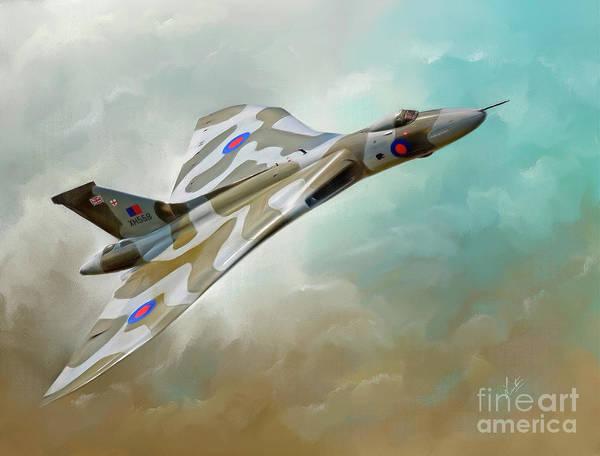 The Falklands War Digital Art - Avro Vulcan Xh558 by Linton Hart