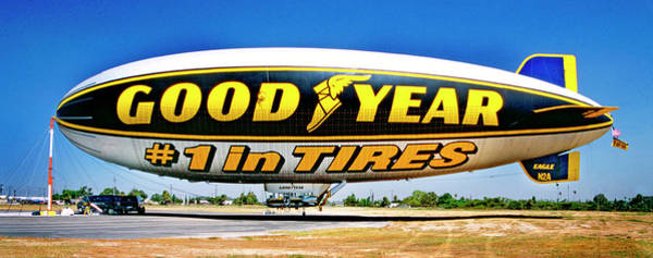 My Goodyear Blimp Ride Art Print